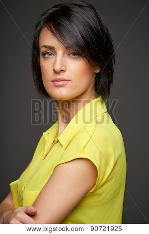 Confident relaxed woman