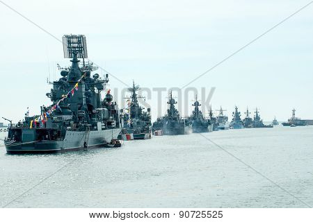 Victory Day Navy parade
