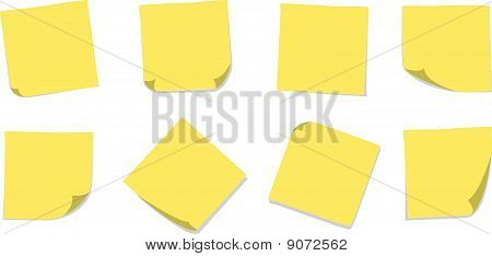 Plain Yellow Sticky Notes