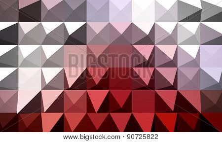 Red Extrude Geometric Abstract Background