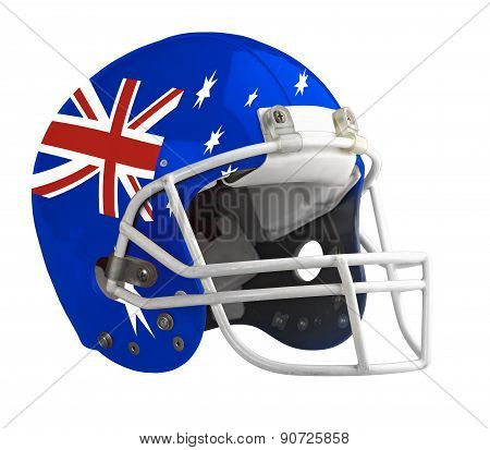 Flagged Australia American Football Helmet