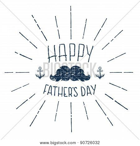 Happy Fathers Day. Grunge calligraphic handwritten background.