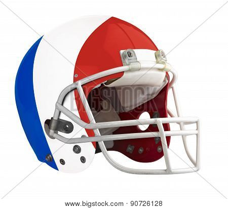 Flagged France American Football Helmet