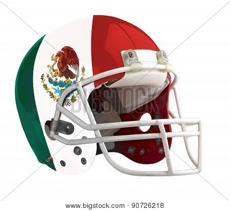 Flagged Mexico American Football Helmet