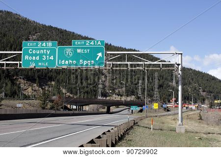 Idaho Springs Colorado Exit Signs