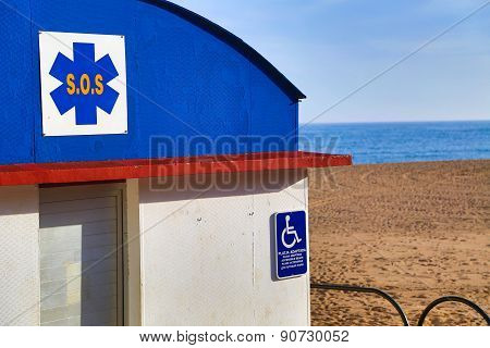 Sos Station Handicapped Accessible On The Beach