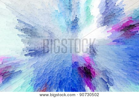 Blue And Pink  Abstract Geometric Background With Square Extrude