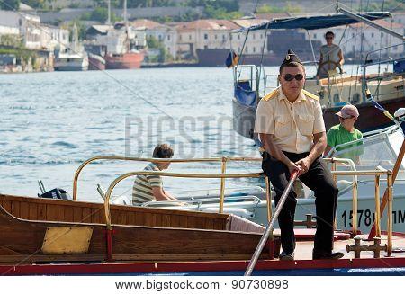Ukraine, Sevastopol - October 02, 2011: Russian Sailor At The Port Of Sevastopol, Crimea