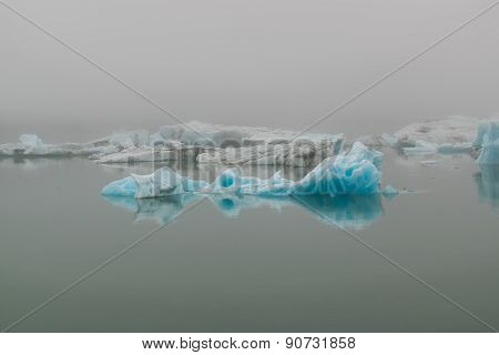 Jokulsarlon Iceberg In The Mist