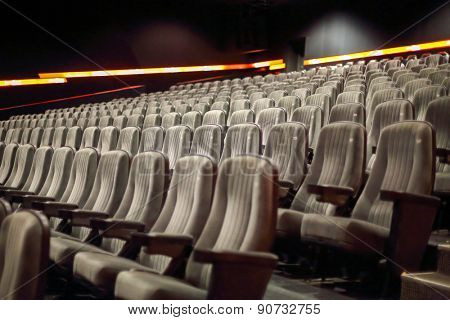 rows of seats in a cinema hall