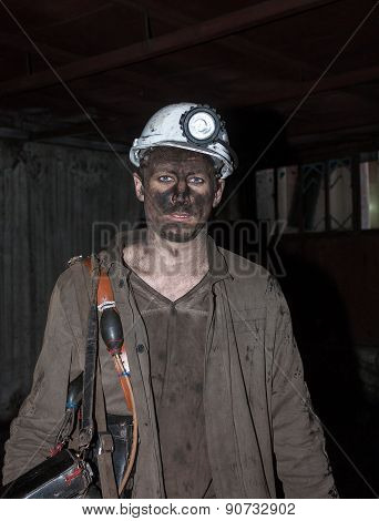 Donetsk, Ukraine - November, 06, 2012: The Miners In The Mine Named After Skochinskiy After The Work