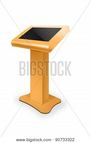 Interactive Information Kiosk Terminal Stand