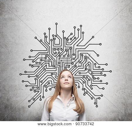 Beautiful Information Technology Specialist Is Thinking About Optimisation Of The Business Process'