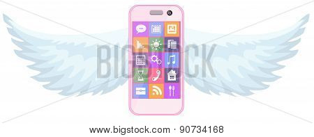 Smartphone with wings