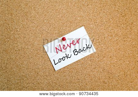 Never Look Back Sticky Note Concept