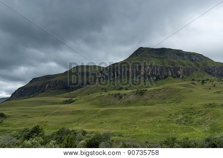 Drakensberg mountain in Cathedral Peak area