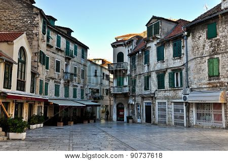 Empty Square of the Old Town of Split