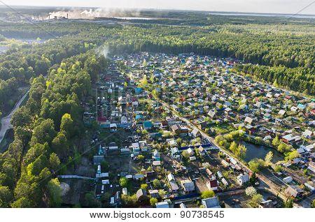 Bird's eye view of housing estate