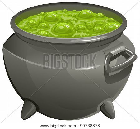 Pot with green magic potion
