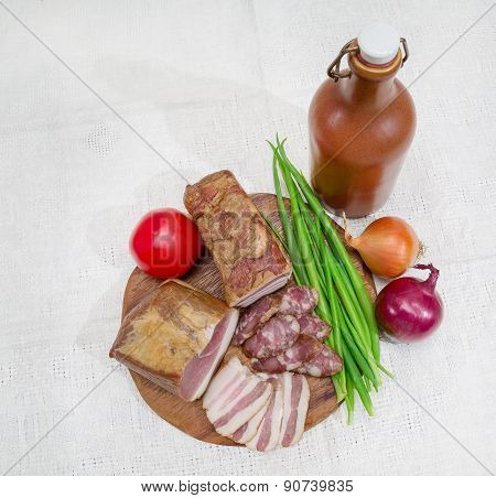 Meat Still Life, Top View