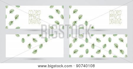 Banners With Beautiful Spring Leaves