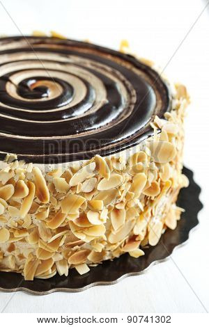 Almond Chocolate Crunch Cake