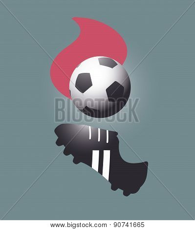 Soccer Ball And Shoe