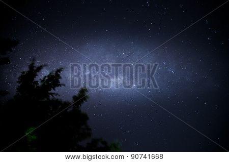 Milky way above Melaka Straits, Malaysia