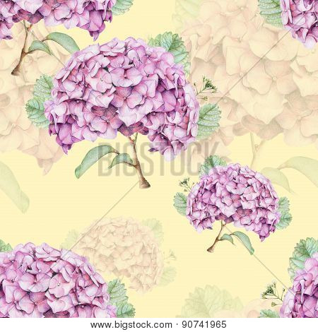 Seamless Pattern With Beautiful Spring Flowers And Plants