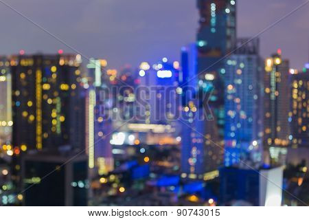 City night lights blur bokeh background