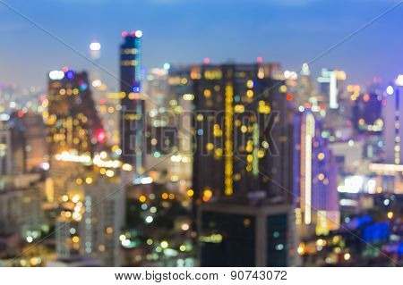 City at night,bokeh background