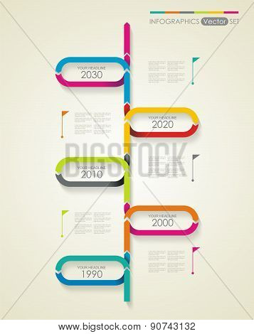 Time Line Design. Can Be Used For Workflow Layout; Diagram; Number Options.