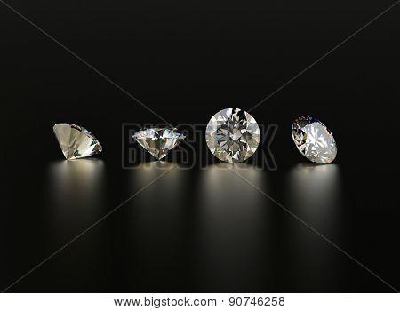 Set of Diamond round shape. Jewelry background