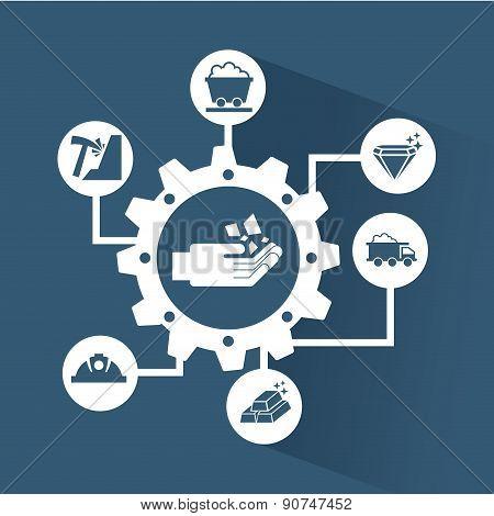 industry design over blue background vector illustration
