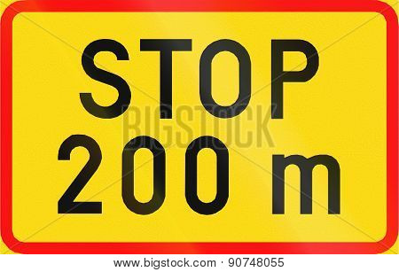 Stop 200 Meters Ahead In Finland