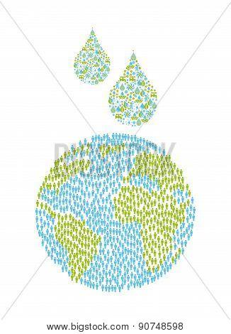 ecology design over white background vector illustration