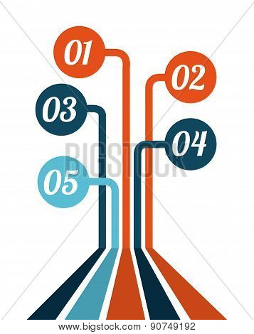 infograph design over white background vector illustation