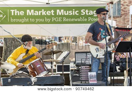 Local Music Band Performing At Farmer's Market