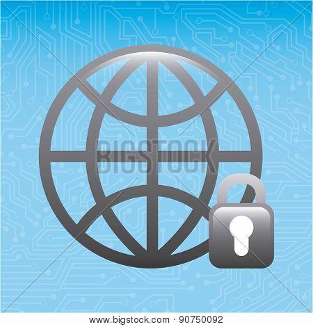 global design over blue background vector illustration