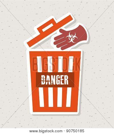 Danger design over vintage background vector illustration