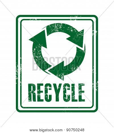 Recycle design over white background vector illustration