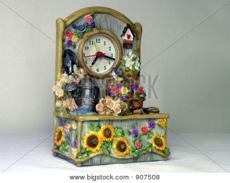 Dekorative Keramik Uhr