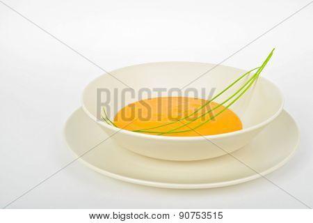 Delicious pumpkin cream soup