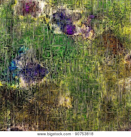 Abstract old background or faded grunge texture. With different color patterns: brown; green; purple (violet); blue