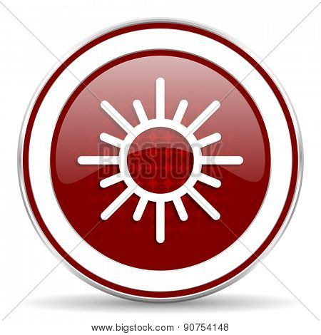 sun red glossy web icon