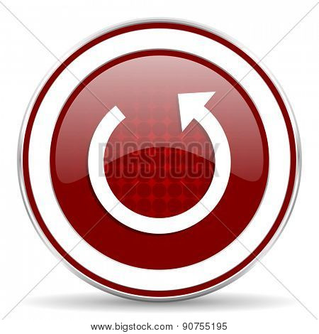 rotate red glossy web icon