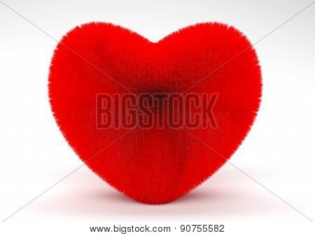 3d redheart