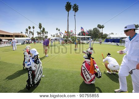 Players At Practice At The Ana Inspiration Golf Tournament 2015