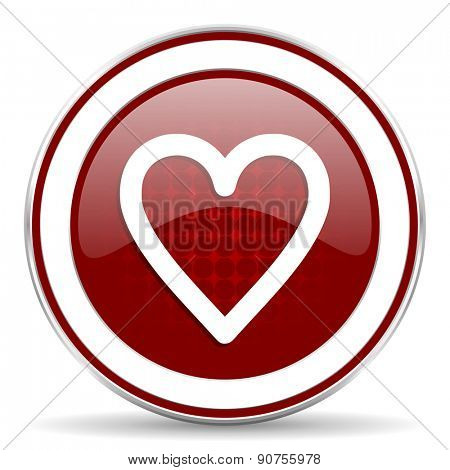 heart red glossy web icon