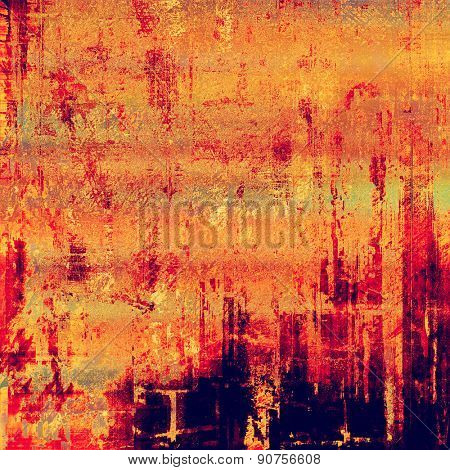 Old abstract grunge background for creative designed textures. With different color patterns: yellow (beige); purple (violet); red (orange); pink